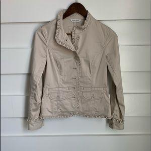 (NWOT) Cream Ruffle Jacket